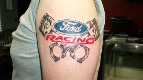 ford racing tattoo