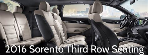 Kia Sorento With 3rd Row Seating by Does The 2016 Kia Sorento Third Row Seating