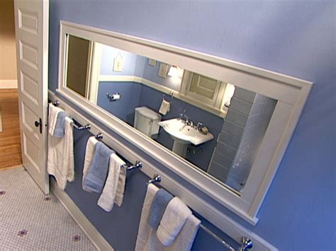 How To Frame A Bathroom Mirror How Tos Diy Diy Bathroom Mirror Frame Ideas