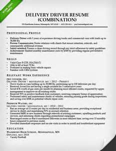Delivery Driver Sle Resume by Truck Driver Resume Sle And Tips Resume Genius