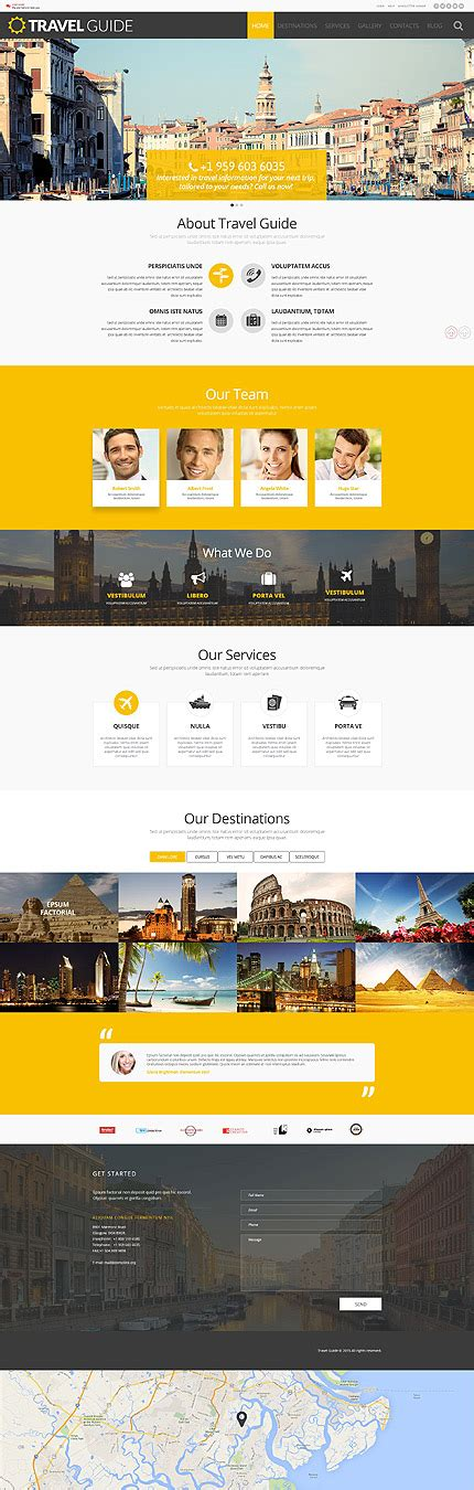 tour guide template travel guide theme