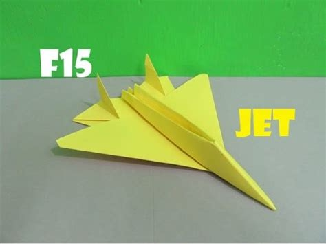 How To Make F15 Paper Airplane - how to make a paper f15 eagle jet fighter plane easy