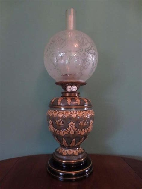 glass globes for oil ls antique victorian c1890 doulton lambeth oil lamp fine