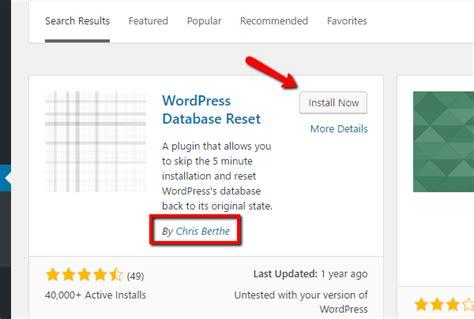 reset tool plugin nextgen how to quickly reset wordpress back to its default state