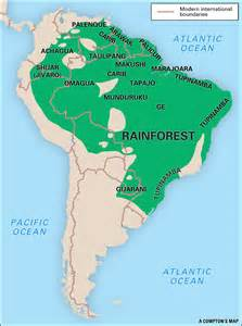 rainforest map south america brazil map of images