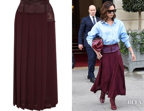 In Beckhams Closet Lwren by Beckham S Beckham Paneled Pleated Skirt