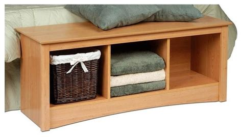 maple storage bench entryway storage bench w 3 cubbies in maple contemporary indoor benches by shopladder