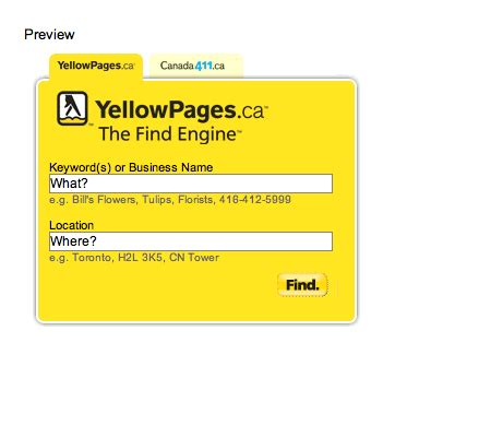 Canada 411 Address Finder Yellowpages Ca Launches Affiliate Program In And Official Site