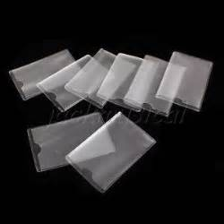 plastic business card sleeves 8pcs dustproof clear id card credit card sleeves