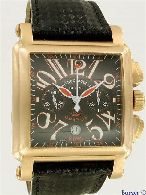 Frank Muller Orange Rosegold king cortez royal orange brushed gold limited edition