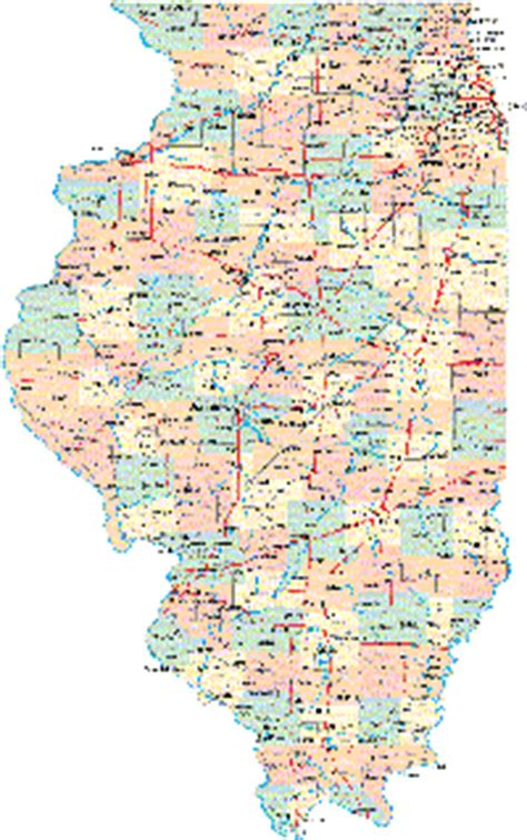 road map illinois usa illinois maps and state information