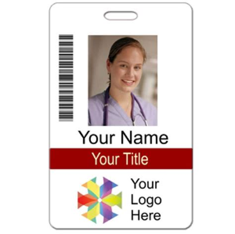 Vertical Name Badge Template Invitation Template Hospital Id Badge Template