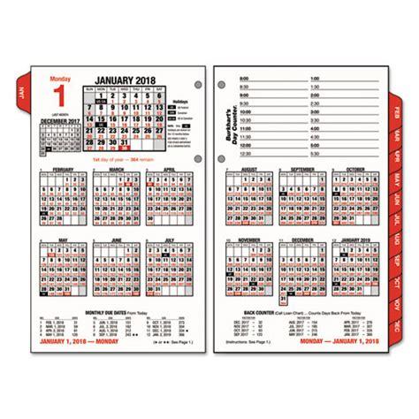 Calendar Day Counter Burkhart S Day Counter Desk Calendar Refill 4 1 2 X 7 3 8