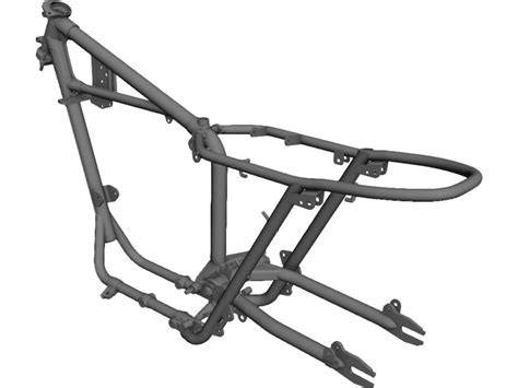 frame design of motorcycle motorbike frame 3d cad model 3d cad browser