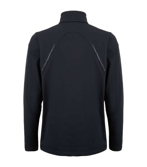 design zip porsche design fleece lined zip neck sweater in black for