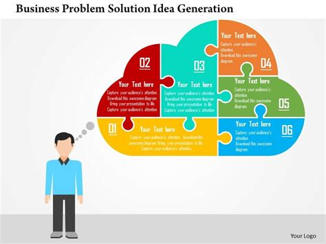 business problem solution idea generation flat powerpoint