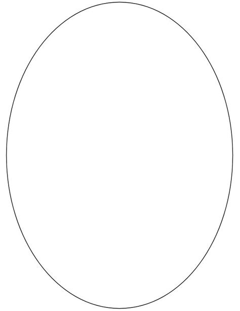 Permalink to Oval Shape Template Printable