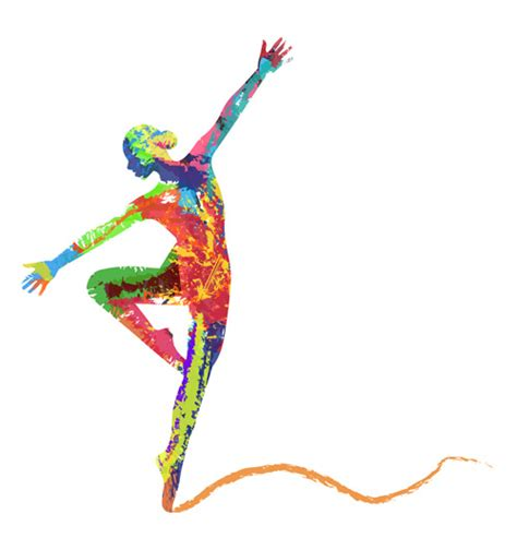 imagenes urbanas abstractas colorful paint with girl dancing vector 06 vector people