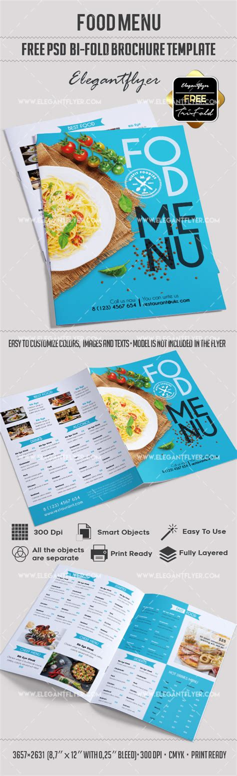 Menu Brochure Template Free by Free Bi Fold Cafe Menu Psd Brochure By Elegantflyer