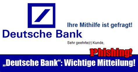 deutsche bank willkommen deutsche bank wichtige mitteilung mimikama
