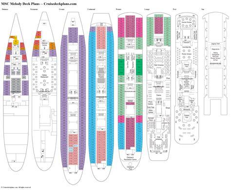 msc melody deck plans diagrams pictures video