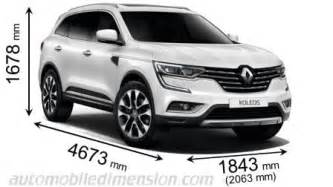 renault koleos 2017 dimensions, boot space and interior