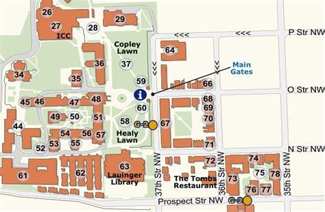 washington dc universities map georgetown cus map washington theological consortium