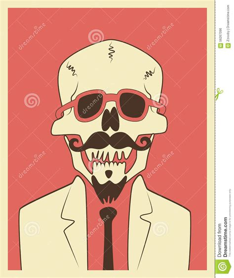 imagenes hipster halloween funny skull hipster character with a mustache and beard