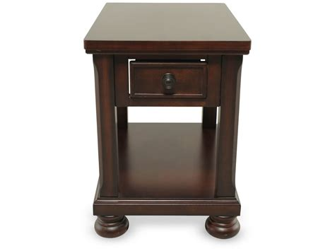 traditional accent tables rectangular one drawer traditional end table in brown