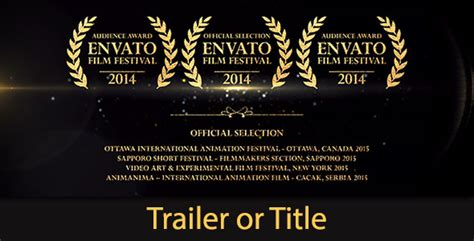 Trailer Credit Template Trailer Golden Shine By Defocusfmg Videohive