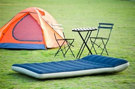 intex  double size camping inflatable air bed air mattress  integrated pillow repair