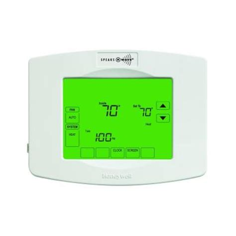 Thermostat Home Depot by Honeywell 7 Day Touchscreeen Programmable Thermostat With Z Wave Module Rth8580zw1001 W The