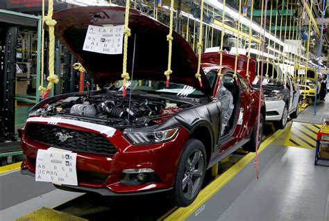 ford production plants production starts on 2015 ford mustang hamodia