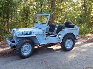 M38 Jeep Parts 1952 Willys M38 Navy Jeep Classic Vehicles