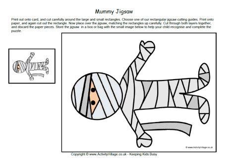 mummy jigsaw printable