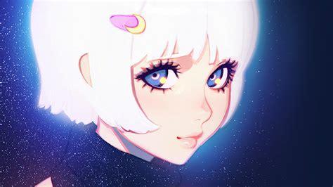 ax ilya kuvshinov illustration art girl dark white hair
