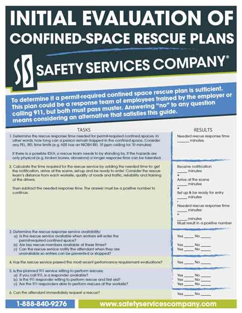 Confined Space Rescue Plan Pictures To Pin On Pinterest Pinsdaddy Confined Space Entry Rescue Plan Template