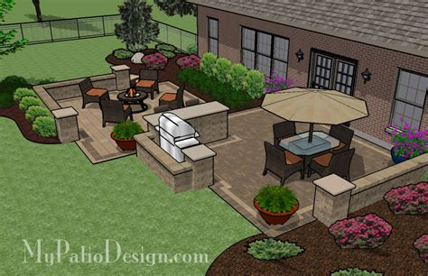 patio barbecue designs large barbecue patio tinkerturf