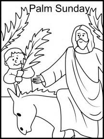 coloring page of jesus on palm sunday images