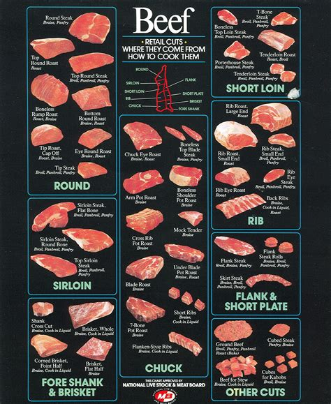 beef sections chart the cuts