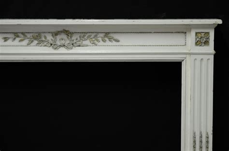 Decorative Wood For Fireplace by Decorative White Painted Louis Xvi Wooden Fireplac Of