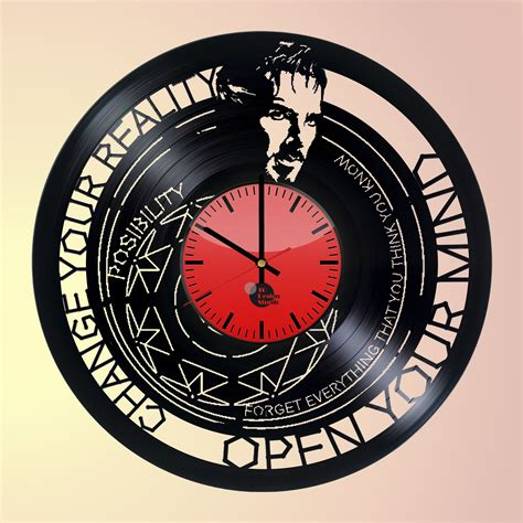 strange clocks dr strange handmade vinyl record wall clock fan gift