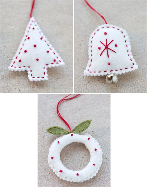 christmas crafts felt holiday ornaments free ornament