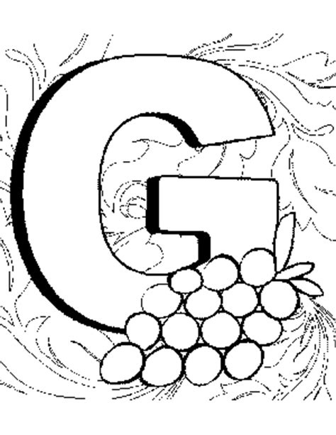 coloring page of the letter g letter g coloring page