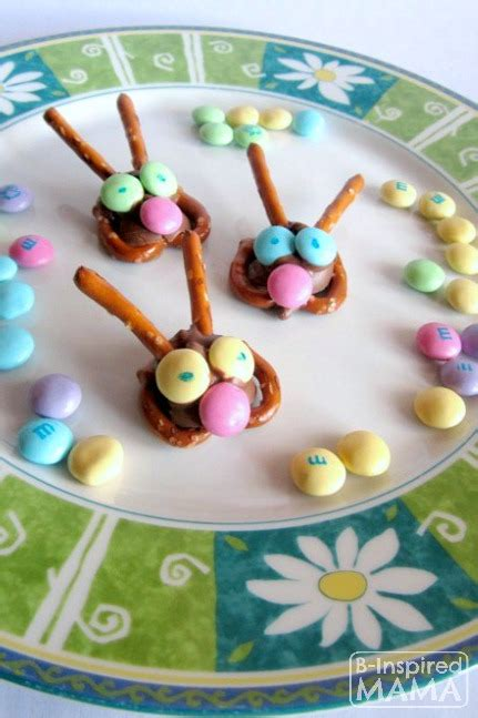 kids in the kitchen easter bunny pretzel treats b inspired mama