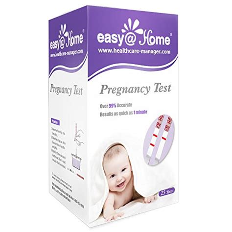 easy home 25 pregnancy hcg urine test strips 25 hcg