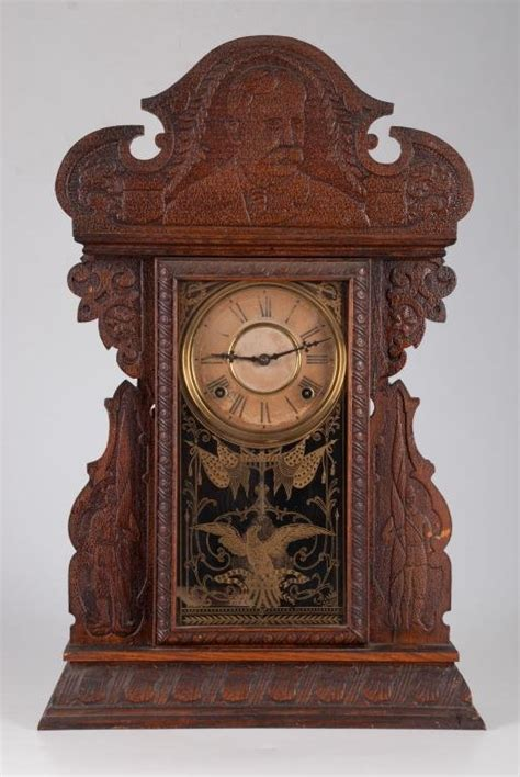welch clock co admiral dewey shelf clock price guide