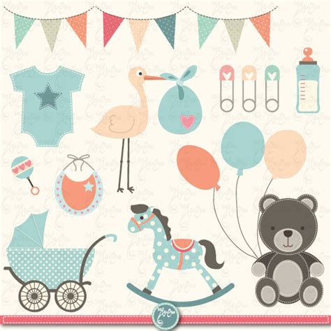 Baby Shower Graphics by Free Vintage Baby Shower Clipart