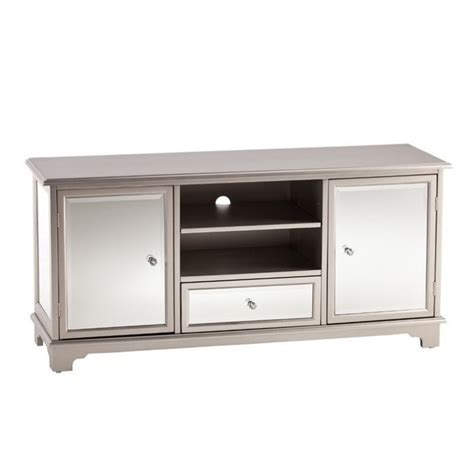 mirrored tv stand southern enterprises mirage 52 quot mirrored tv media stand in