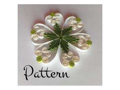 quilling pattern and printable template pdf by evascreation